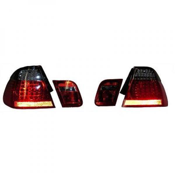 Feux arrière Tuning rouge/noir LED BMW E46 4-portes